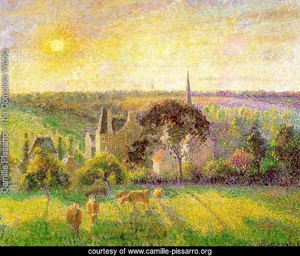 Countryside & Eragny Church and Farm  1895
