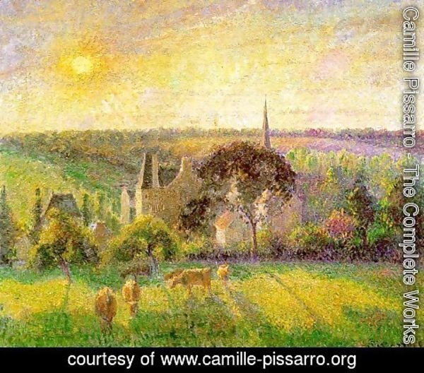 Camille Pissarro - Countryside & Eragny Church and Farm  1895