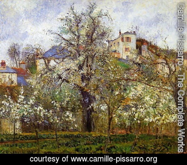 Camille Pissarro - Kitchen Garden with Trees in Flower, Pontoise  1877