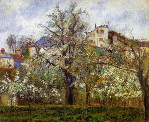 Kitchen Garden with Trees in Flower, Pontoise  1877