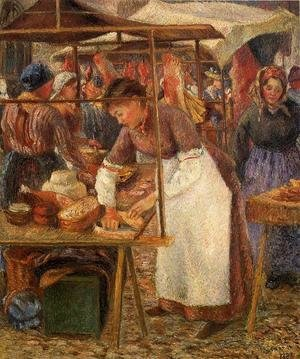 Camille Pissarro - The Pork Butcher  1883