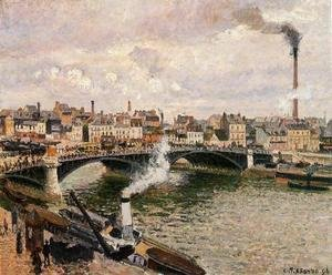 Camille Pissarro - Morning, An Overcast Day, Rouen