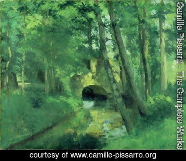 Camille Pissarro - The Little Bridge, Pontoise, 1875