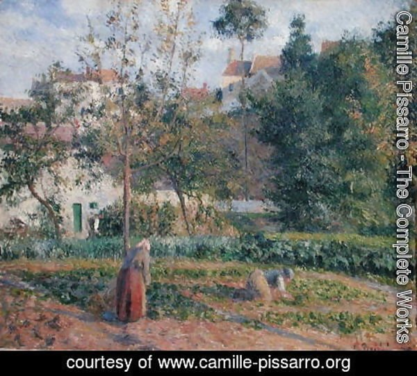 Camille Pissarro - Vegetable Garden at the Hermitage, Pontoise, 1879