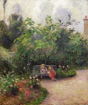 Camille Pissarro - A Corner of the Garden at the Hermitage, Pontoise, 1877
