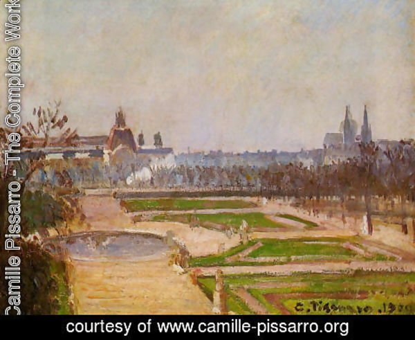 Camille Pissarro - The Tuileries and the Louvre, 1900