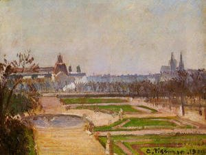 The Tuileries and the Louvre, 1900