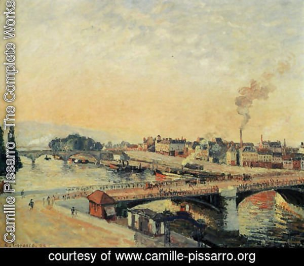 Camille Pissarro - Sunrise at Rouen, 1898