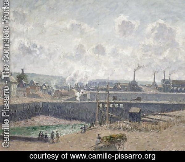 Camille Pissarro - Low Tide at Duquesne Docks, Dieppe, 1902