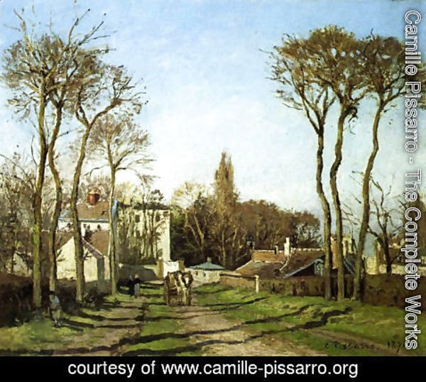 Camille Pissarro - Entrance to the Village of Voisins, Yvelines, 1872