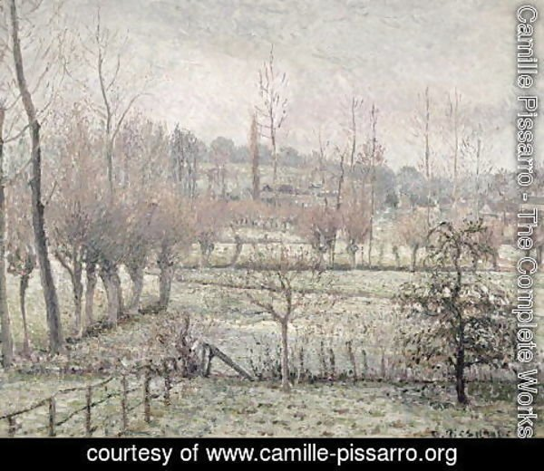 Camille Pissarro - Snow Effect at Eragny, 1894