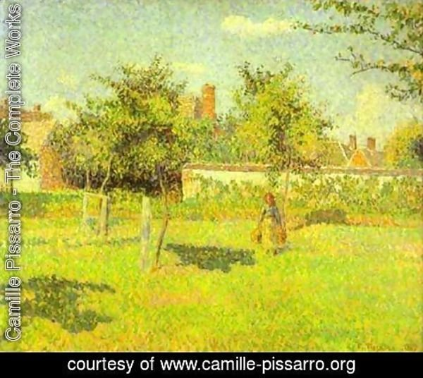 Camille Pissarro - Woman in the Meadow at Eragny, Spring, 1887