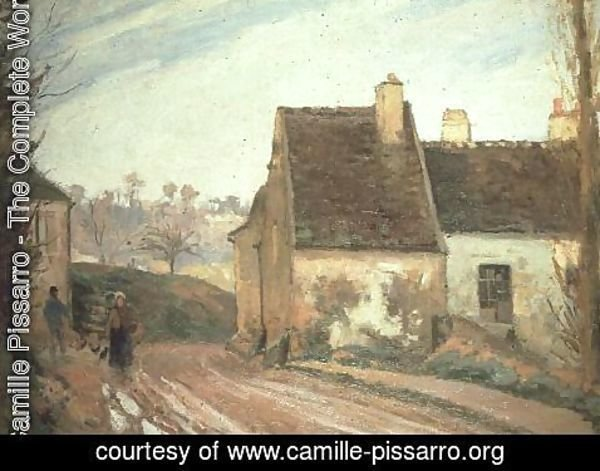 Camille Pissarro - The Tumbledown Cottage near Osny, 1872