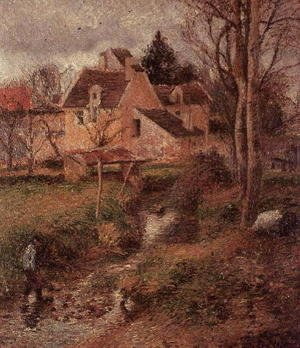 Camille Pissarro - The Stream at Osny, 1883