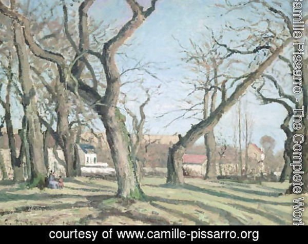 Camille Pissarro - Chestnut Trees at Louveciennes, 1872