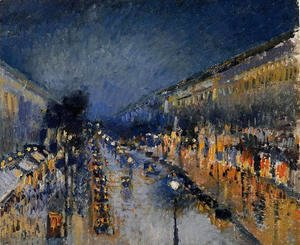 The Boulevard Montmartre at Night, 1897
