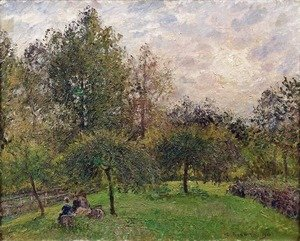 Camille Pissarro - Apple Trees and Poplars in the Setting Sun, 1901