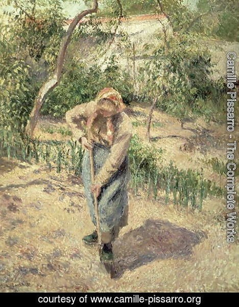 Camille Pissarro - Woman Digging in an Orchard, 1882