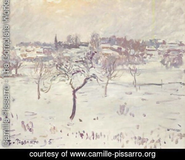 Camille Pissarro - Snowy Landscape at Eragny with an Apple Tree, 1895