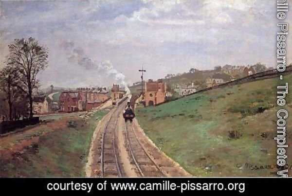 Camille Pissarro - Lordship Lane Station, Dulwich, 1871