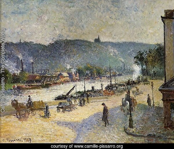 The Quays at Rouen, 1883