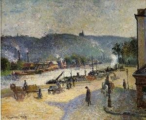 Camille Pissarro - The Quays at Rouen, 1883