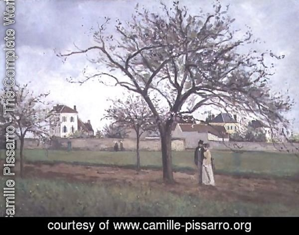 Camille Pissarro - Pere Gallien's House at Pontoise, 1866