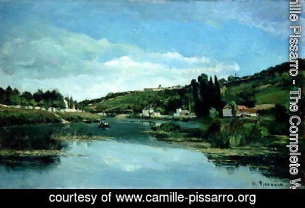Camille Pissarro - The Marne at Chennevieres, c.1864-65
