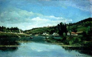 The Marne at Chennevieres, c.1864-65