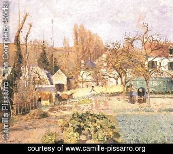 Camille Pissarro - Kitchen garden at the Hermitage, Pontoise, 1874