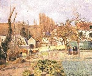Kitchen garden at the Hermitage, Pontoise, 1874