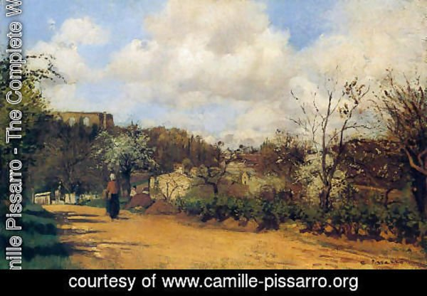 Camille Pissarro - View from Louveciennes, 1869-70