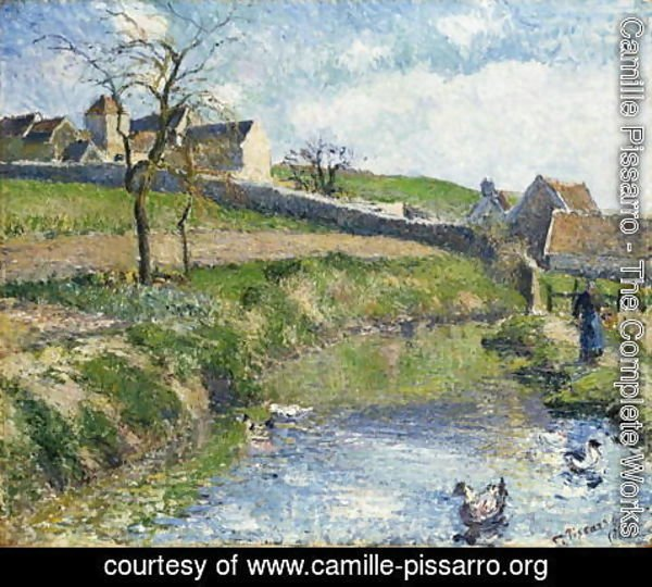 Camille Pissarro - The Farm at Osny, 1883
