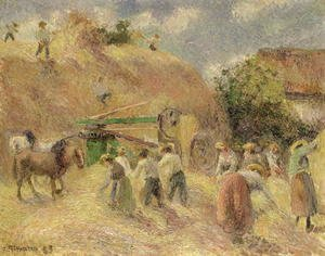 Camille Pissarro - The Harvest, 1883