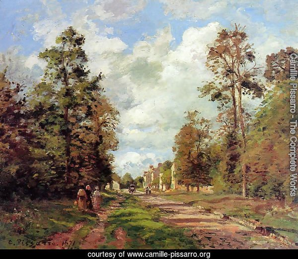 The road to Louveciennes at the edge of the wood, 1871