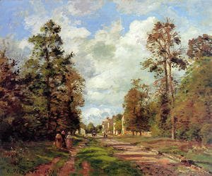 Camille Pissarro - The road to Louveciennes at the edge of the wood, 1871