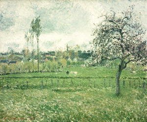 Camille Pissarro - Meadow at Eragny, 1885