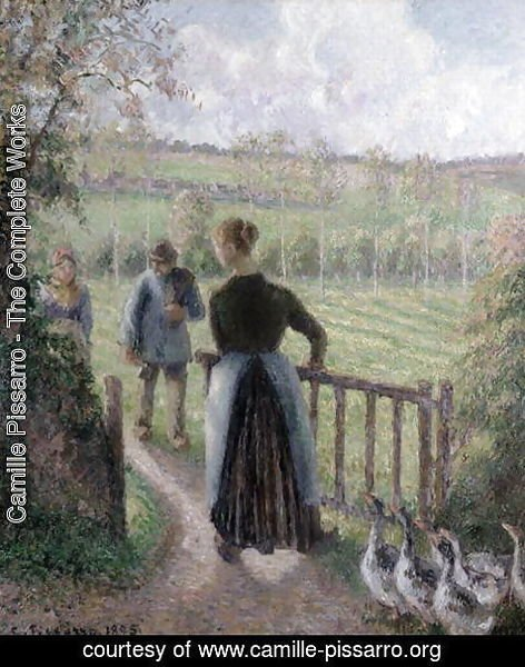 Camille Pissarro - The Woman with the Geese, 1895