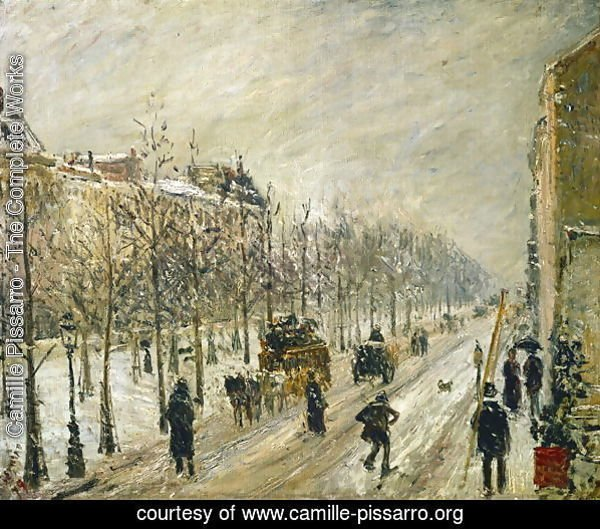 The Boulevards under Snow, 1879