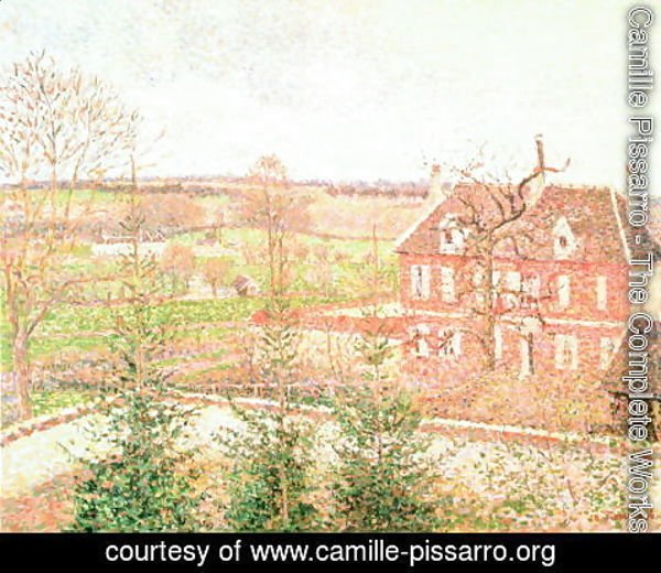 Camille Pissarro - View from my window: the house of the deaf person, 1886