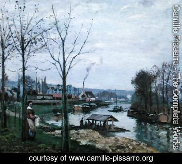Camille Pissarro - The Washing House, Pontoise Port-Marly, or The Wash-house, 1872
