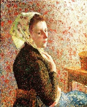 Camille Pissarro - Woman wearing a green headscarf, 1893