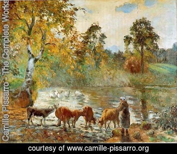 Camille Pissarro - The Pond at Montfoucault, 1875