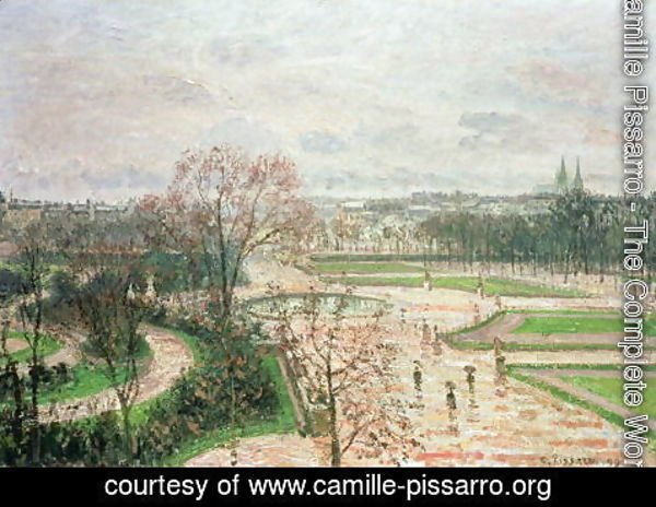 Camille Pissarro - The Garden of the Tuileries in Rainy Weather, 1899