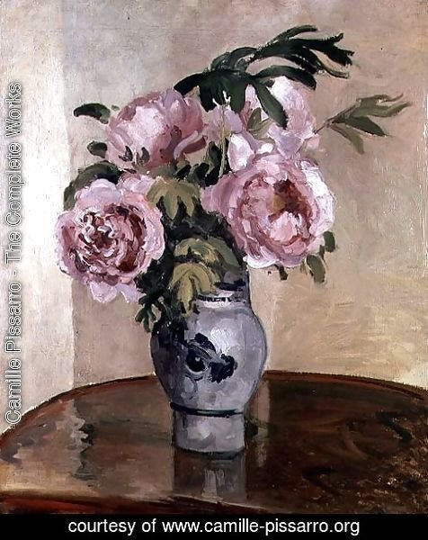 Camille Pissarro The Complete Works A Vase Of Peonies 1875