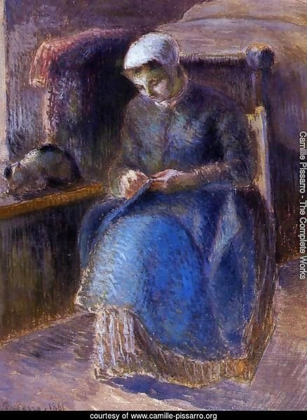 Woman Sewing, 1881
