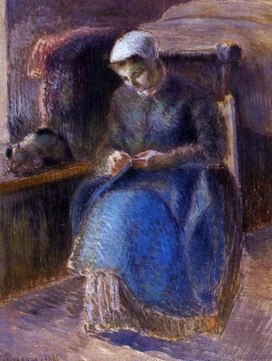 Camille Pissarro - Woman Sewing, 1881