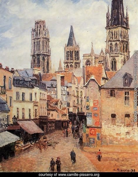 Rue de l'epicerie at Rouen, on a Grey Morning, 1898