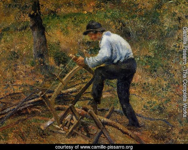 Pere Melon Sawing Wood, Pontoise, 1879