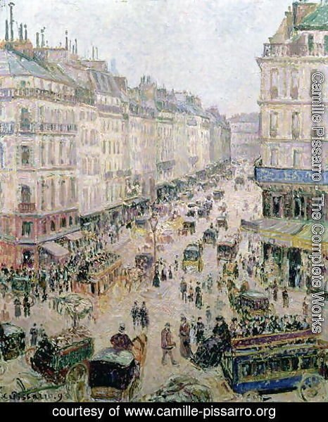 Camille Pissarro - Rue de l'Epicerie, Rouen, on a Sunny Afternoon, 1893
